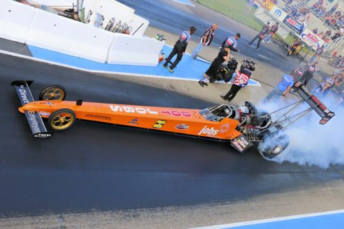 Bruce Litton made exhibition runs in his Indiana-based dragster