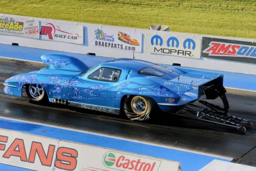 Southern Alberta's Gary Urlacher qualified #1 in Pro Mod with a 6.003 secs in his nitrous-injected Corvette.