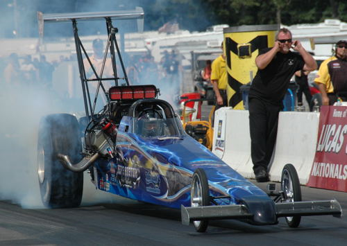 """Ken and Scott Murray (from Winnipeg) raced their very pretty ooking T/D at Brainerd. They qualified #5 (at 6.236 secs) and deservingly received the event's """"Best Appearing Car"""" award!"""