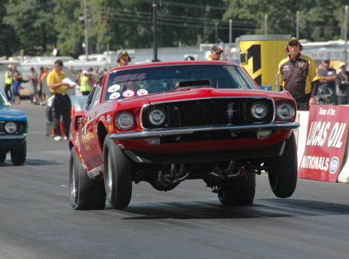 Bill Fiest scored in Stock eliminator with his Mustang