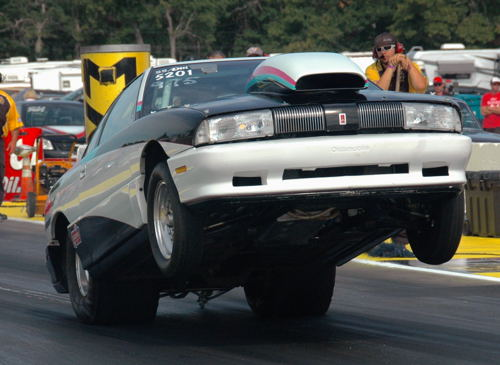 A newcomer to the NHRA national event racing scene was this '93 Achieva SS/DM entered by James Nicol from Pilot Butte SK.