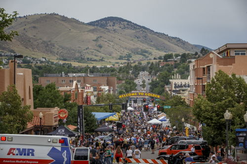 Prior to the event - gracious event sponsor Mopar held it's annual Block Party downtown nearby Golden CO.
