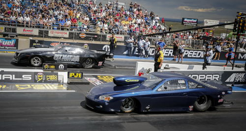 Don Baker (near lane) won over Nick Johanns in the TS championship round.