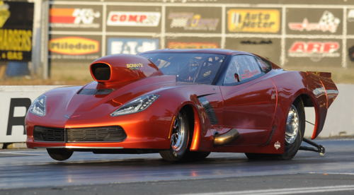 Saskatchewan's Mike Gondizola damaged his awe inspiring C7 during the the first round of WDRL qualifying at Mission Raceway last weekend.