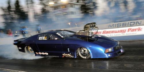 American racer Garrett Richards reset the WDRL's Pro Mod class records