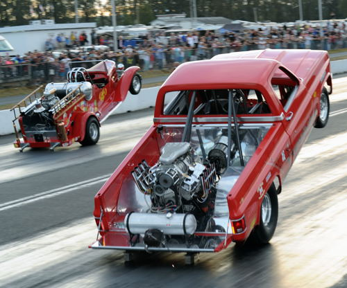 """Exhibition vehicles were a big feature part of Mission Raceway's """"Smoke & Thunder"""" event!"""