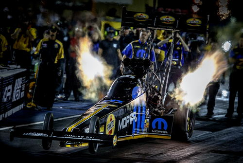 Leah Pritchett ran this special edition Mopar themed dragster in Top Fuel at Denver!