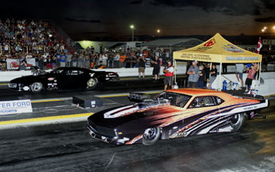 Wily independent Pro Mod racer Derek Hawker claimed victory lane after he defeated Mike Stawicki in the Shellborne Fuels PM final