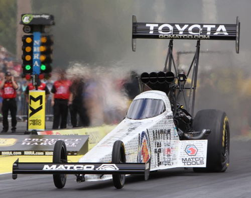 Defending NHRA World Champ Antron Brown will race in the TF final round