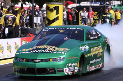 For sure the biggest dark horse story of the race is Aaron Strong's unexpected advancement to the Pro Stock final.