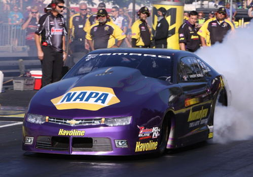 #1 qualifier Vincent Nobile will race in the deferred Pro Stock final