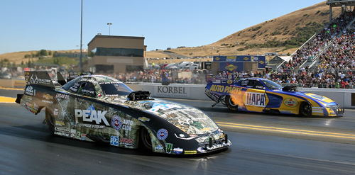 A suddenly surging John Force collected his 2nd win in 7 days at Sonoma.