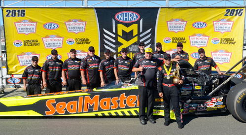 Team Kalitta driver J.R. Todd won for the 9th time in his NHRA career