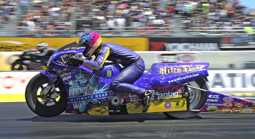 LE Tonglet won in Pro Stock Motorcycle for the first time since 2011