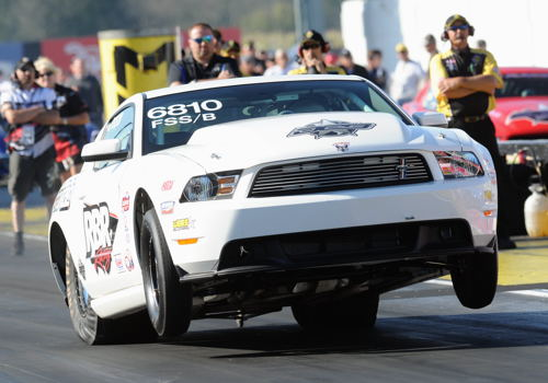 DeWinton Alberta's Rob Blair entered his uber fast FSS/B 2012 Mustang in Super Stock - and won his first round.