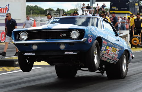 Brian Oakes (from the Maritimes) raced the former John Armstrong SS/BA Camaro at Indy went to the 3rd round in eliminations.