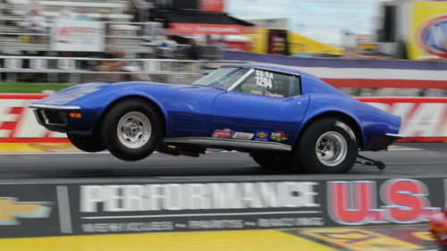 Eastern Canadian Super Stock racing icon Ollie Stephan entered his SS/BA '71 Corvette at Indy - and qualified at -.894 secs
