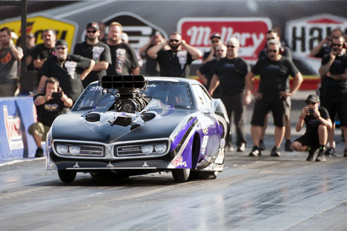 Racing her Firebird -- Melanie Salemi was super consistent at Norwalk while advancing to the final round.