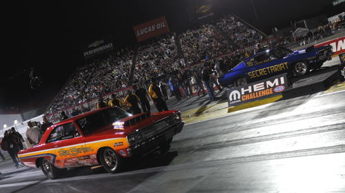 The Mopar Hemi Challenger championship final pitted - rather appropriately - a Dart versus a Barracuda!