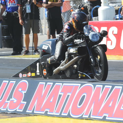 With his win - Matt Hines took over the NHRA Pro Stock Motorcycle points lead