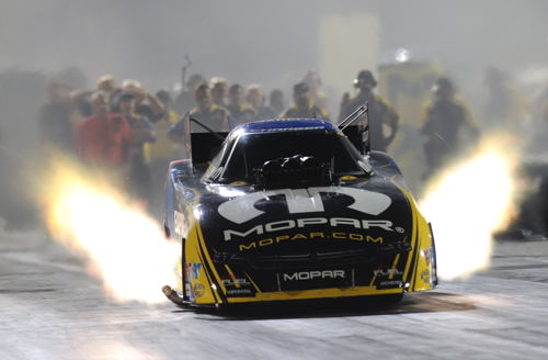 Matt Hagan earned his first career U.S. Nationals Funny Car title.