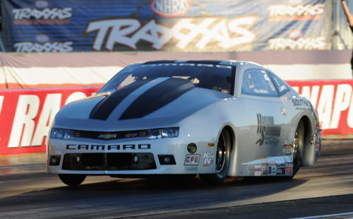 Texan Chris McGaha was a convincing winner in Pro Stock driving his Chevy Camaro.