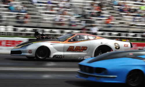 Von Smith roared to the Pro Mod title racing his supercharged C7!