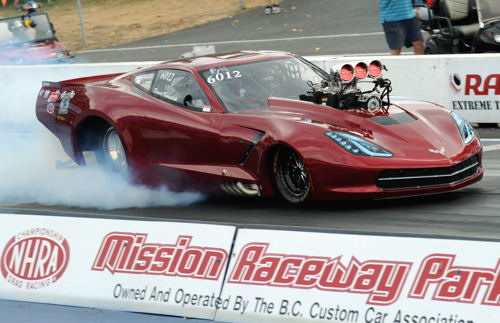 The Kowalski Racing Team's Corvette races in both Top Sportsman and Pro Mod classes.