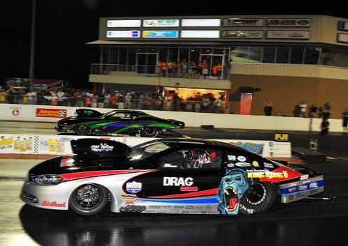 Lizzy Musi beat Tommy Franklin to the stripe in the Pro Nitrous final round