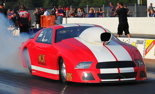 Doug Kirk won in Pro Stock with his Mustang