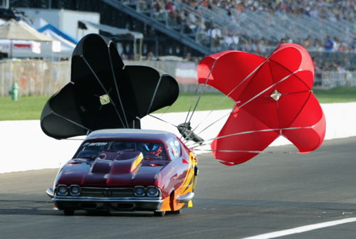 California's Michael Bowman set top speed of the race at 256.89 mph racing his mega cool turbocharged Chenille.