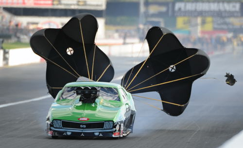 Eric Latino was the only Canadian car to crack the quick field - running 5.859 secs for #8.