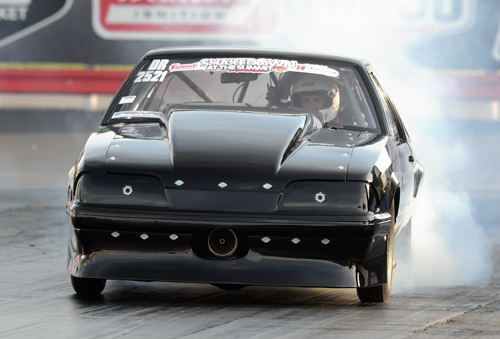 Racing his '98 Mustang , Woodbridge's Enzo Picchini was the only Canadian entered in the event's Outlaw Limited Street class category.