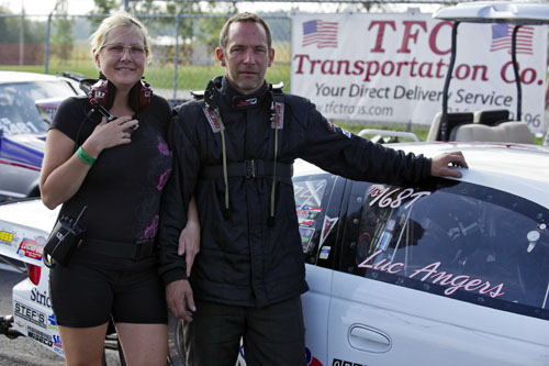Quebec TS racer Luc Angers (and his girlfriend France) entered their potent Pontiac in Top Sportsman.