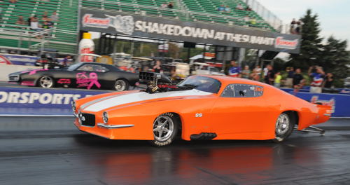 """In his first ever """"Shakedown"""" event appearance - Louis Ouimette (from Timmons) qualified his new '70 Camaro #5 for TS and advanced to the 2nd round."""