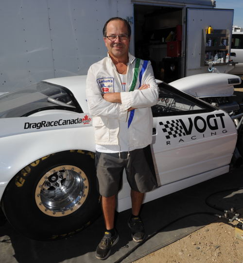 Tim Vogt - one of SIR's most familiar racing names - towed in from Kelowna BC to race his Corvette.