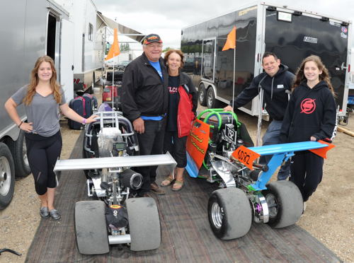 Kevin Therres - a long time supporter of Western Canadian drag racing had two of his granddaughters racing Junior Dragsters: Desirae and Destiny )