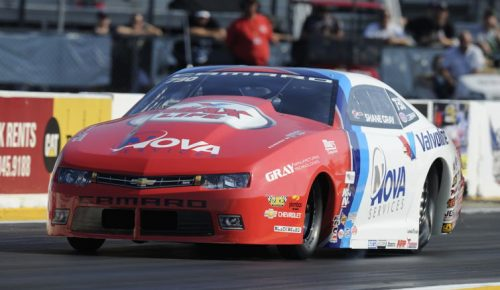 Shane Gray set low ET while qualifying #1 at 6.604 secs and lasted until the semi final round.