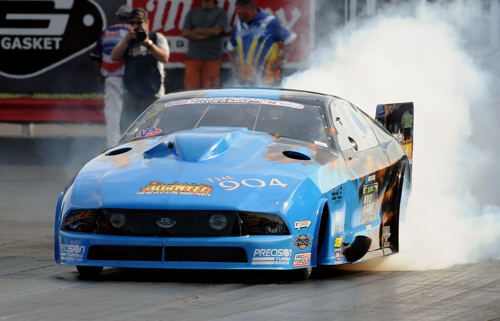 Racing his Mustang, Florida's Kevin Fiscus collected a nice cheque after winning the Precision Outlaw Pro Mod title