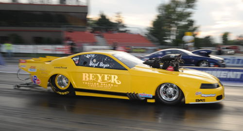 Ohio's Boyd Beyer was the #1 qualifier in TS at 6.325 secs racing his Mustang.