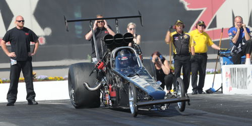 In only his second deverf appearance at zMax Dragway -- Canada's Shawn Cowie was victorious in TAD