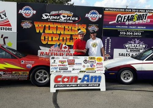 Chris Lozon and Bob Park meet for the event title during the Can-Am Series' most recent event.