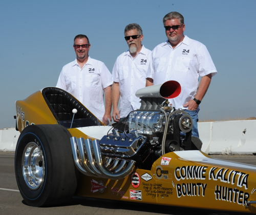 """The event featured some incredible restorations and rebuilds - not the least of which was Al Bridges' """"Bounty Hunter"""" car which won at Bakersfield in 1964"""