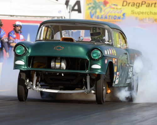 South Carolina's Greg Porter scored in the exhibition Geezer Gasser class in his '55 Chevy.