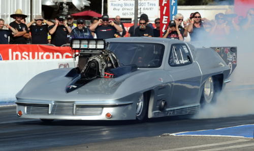 Nostalgia Pro Mod was won by Bret Williamson's Corvette.