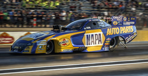 Points leader Ron Capps appeared in his milestone 100th career final round.