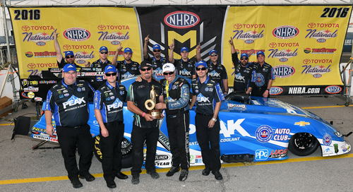For the 147th time in his career - John Force stood in victory lane.
