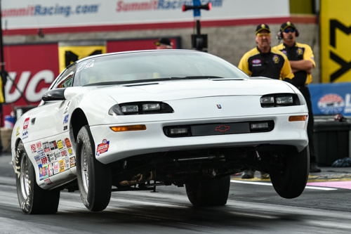 Darrel Goheen drove his Chevy Camaro to a win in Stock eliminator.