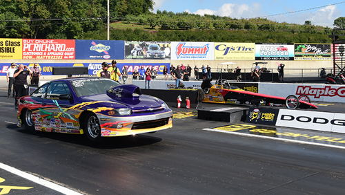 Al Ackerman (far lane) defeated Joe Carnasciale in the Comp eliminator final.