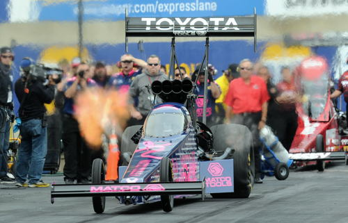 Antron Brown's win in TF increased his Mello Yello Series points lead.